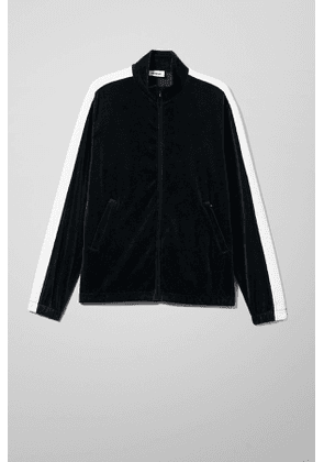 Track Velour Sweatshirt - Black