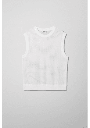 Ali Knitted Vest - White