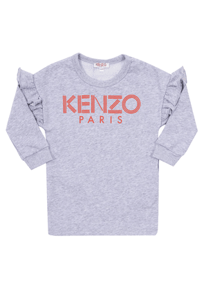 Kenzo Kids Sweatshirt dress with a logo