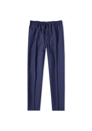 AMI Carrot Fit Wool Trouser Navy