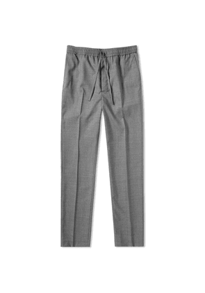 AMI Carrot Fit Wool Trouser Heather Grey