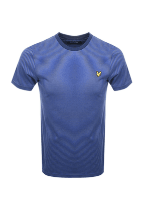 Lyle And Scott Feeder Stripe T Shirt Blue
