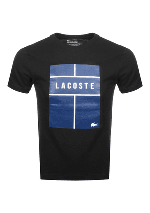 Lacoste Sport Ultra Dry Box Logo T Shirt Black
