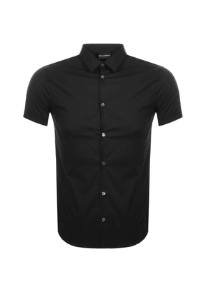 Emporio Armani Short Sleeved Slim Fit Shirt Black