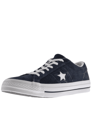 Converse One Star Suede Trainers Navy