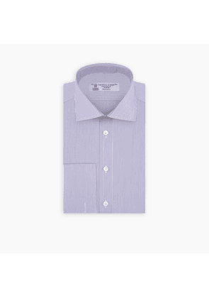 Lilac Highlight Stripe Shirt with Regent Collar and Double Cuffs
