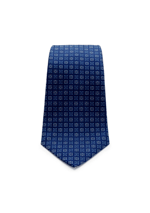 Blue and Navy Square Spot Silk Tie