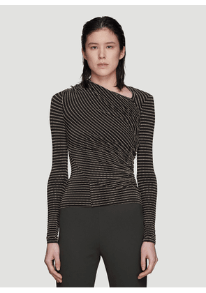 Atlein Striped Boat Neck T-Shirt in Black size FR - 34