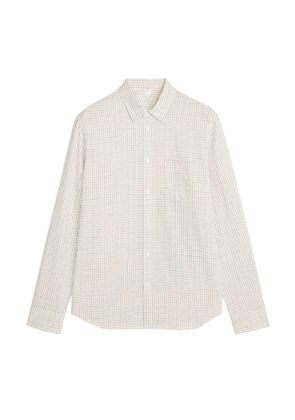 Shirt 5 Tattersall Check Flannel - White