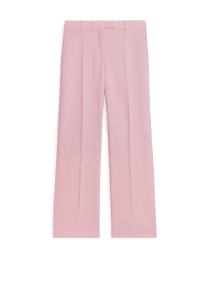 Wool Hopsack Trousers - Pink