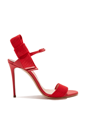 Casadei Sandals Women - Julia Aiko Energy Red Calf Leather and Fabric 35,5