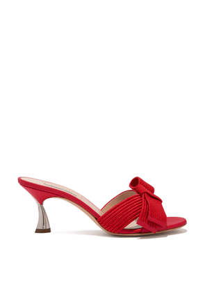 Casadei Sandals Women - K Blade Aiko Energy Red Calf Leather and Fabric 36