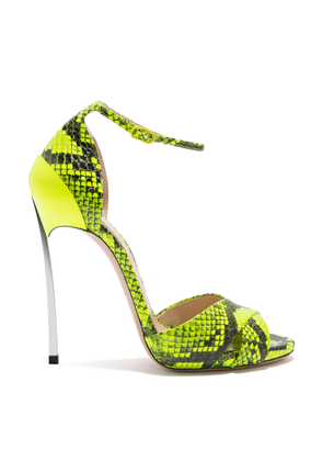 Casadei Sandals Women - Techno Blade Fluo Fluo yellow Elaphe Leather 35,5