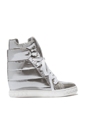 Casadei Sneakers Women - Sneakers Silver Patent Leather 38,5