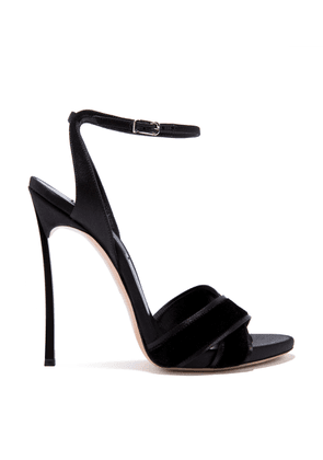 Casadei Sandals Women - Blade Black Velvet and Satin 36