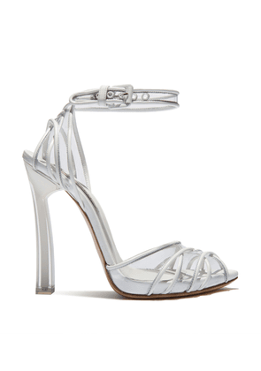 Casadei Sandals Women - Plexi Blade White Nappa Leather and vinyl 36,5