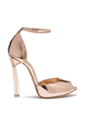 Casadei Sandals Women - Plexi Blade Tan Patent Leather 37,5