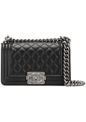 Chanel Vintage quilted CC logos shoulder bag - Black