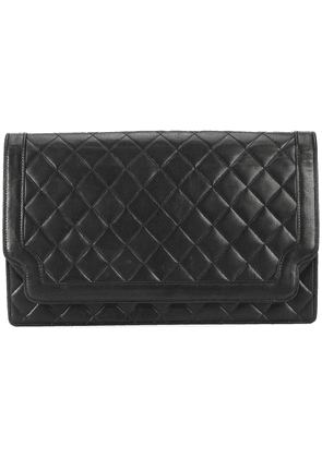 Chanel Vintage quilted flap clutch - Black