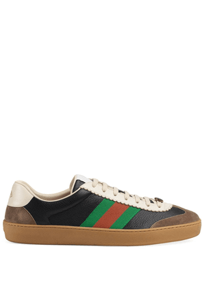 Gucci Leather and suede Web sneakers - Black