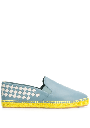 Bottega Veneta Gala checked espadrilles - Blue