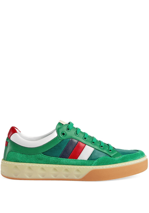 Gucci Leather and nylon sneakers - Green
