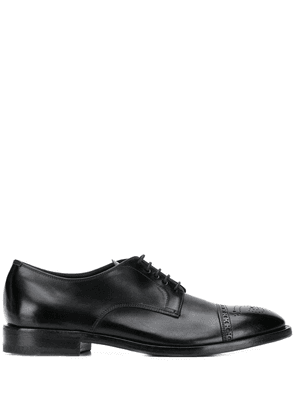 Henderson Baracco brogue detail derby shoes - Black