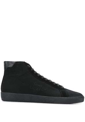Saint Laurent Court Classic embroidered sneakers - Black
