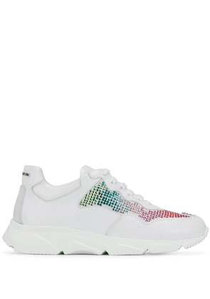 Philipp Plein Lleva embellished sneakers - White