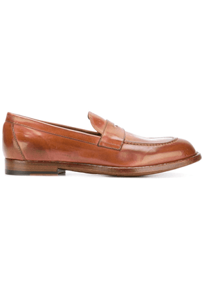 Officine Creative classic penny loafers - Brown