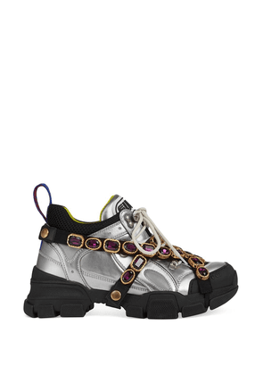 Gucci Flashtrek sneaker with removable crystals - Silver