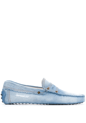 Tod's Gommino denim driving shoes - Blue