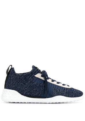 Tod's blue rubber sole sneakers