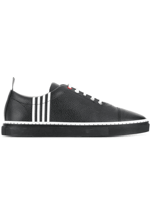 Thom Browne Contrast 4-Bar Emboss Trainer - Black