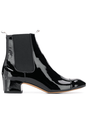 Thom Browne Block Heel Patent Leather Chelsea Boot - Black