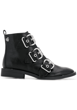 Twin-Set triple buckle ankle boots - Black