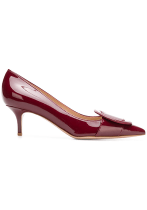 Gianvito Rossi pointed buckle pumps - Red