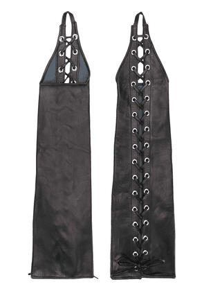 Manokhi lace up long gloves - Black