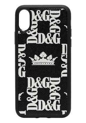 Dolce & Gabbana Crown print iPhone X phone case - Black