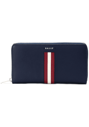 Bally logo stripe wallet - Blue