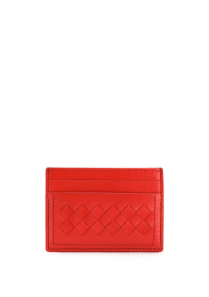 Bottega Veneta intrecciato card case - Red