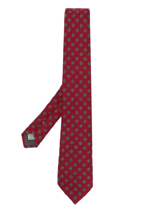 Canali polka dot tie - Red