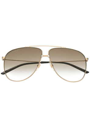 Gucci Eyewear aviator sunglasses - Gold