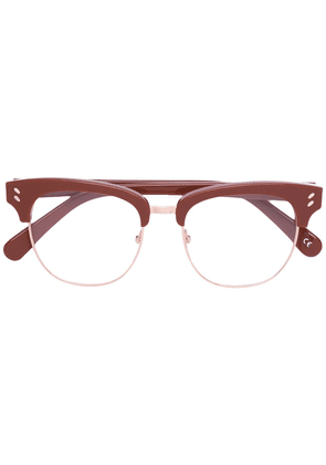 Stella Mccartney Eyewear half frame glasses - Brown