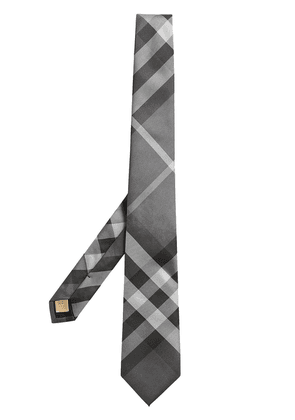 Burberry Check twill tie - Grey