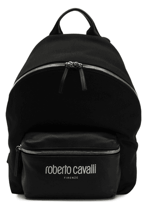 Roberto Cavalli logo backpack - Black