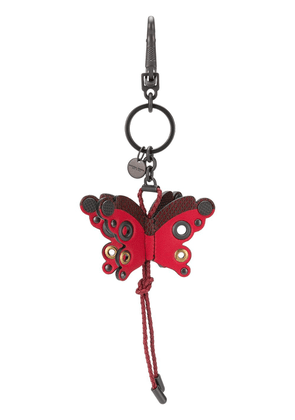 Bottega Veneta butterfly charm key ring - Red
