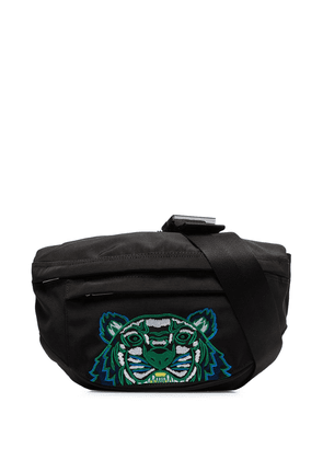 Kenzo black tiger embroidered cross body bag