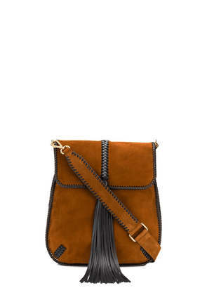 Alberta Ferretti tassel shoulder bag - Brown
