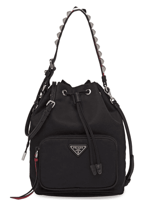 Prada studded strap shoulder bag - Black